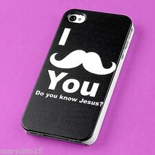 L3X New Mustache I U Back Skin Hard Cover Case for Apple i-phone 4 4S 4G G S