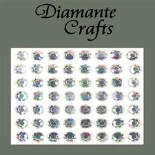 56 x 8mm Clear Iridescent AB Diamante Self Adhesive Body Vajazzle Gems