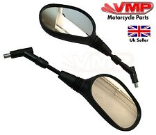 10mm Motorcycle Mirror Pair Left Right Rear View Mirrors Sinnis Apache Supermoto