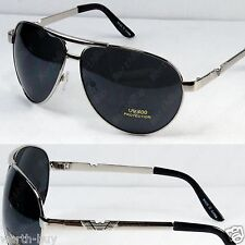 New Classic Aviator Retro Pilot Mens Sunglasses Shades Fashion Silver Designer
