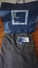 IL Lanficio Herren Cashmere Pullover V-Ausschnit - Gr. 52 - UVP 248€