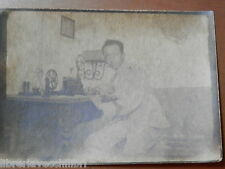Vecchia foto epoca fotografia antica soldato telegrafista PRIMA GUERRA MONDIALE