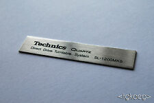 TECHNICS SL-1200 MK5 Turntable Plaque / Logo / Decal x 2 (HIGH QUALITY)