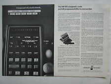 7/1975 PUB HP HEWLETT PACKARD HP-65 SCIENTIFIC CALCULATOR CALCULATRICE AD