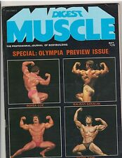 MUSCLE DIGEST bodybuilding magazine with poster/Mr Olympia Preview 10-78