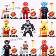 9pcs Set Dc Comics The Flash v Gorilla Grodd Super Hero Lego Mini Figures