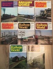 "Job Lot 8 x Rare Issues Vintage ""Railway World"" Magazine 1971-1976"
