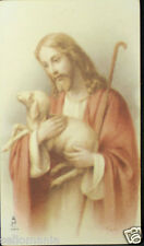OLD BLESSED JESUS CHRIST WITH SHEEP HOLY CARD ANDACHTSBILD SANTINI SEE SHOP C753