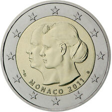 Monaco COIN unc 2 euro 2011 Wedding of Prince Albert and Charlene