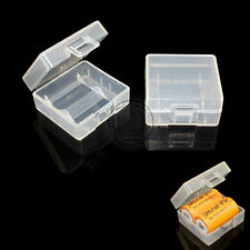 10pcs White Plastic Battery Case/Box For 2x 16340 ICR123A 18350 Protect Battery