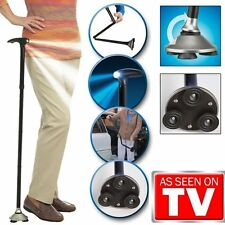 Trusty Cane LED Folding, Walking,Triple Head Pivot Base Hurry Now As Seen on TV