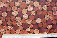 Stoff Baumwolle Picabo beschichtet, Weinkorken, brauntöne, 140 cm