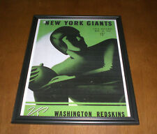 19465 NEW YORK GIANTS vs WASHINGTON REDSKINS FRAMED PROGRAM PRINT - POLO GROUNDS