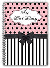 WIRE BOUND A5 DIET DIARY, SLIMMING TRACKER, FOOD DIARY, WEIGHT LOSS JOURNAL