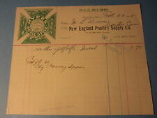 Old 1905 - New England Poultry Supply Co. - BILLHEAD - Springfield Mass.