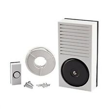 Battery Powered Doorbell Kit: Bell Push, Bell, Wire, Fixings Made by Friedland