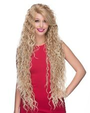 Lace Front Wig Extra Long Curls Strawberry Blonde Mix LF Symphony Wigs US