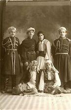 PEOPLE DRESSED UP NATIONAL COSTUME VINTAGE PHOTO POSTCARD KOKKINA CYPRUS STUDIO