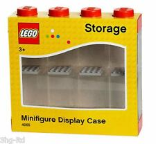Lego Storage Display Case Small Red Stores 8 Mini Figures Minifigures New