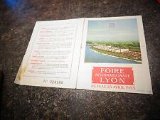 Carte d'Invitation pour la Foire Internationale de Lyon 1955