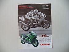 advertising Pubblicità 2002 MOTO KAWASAKI ZX-6 R 636