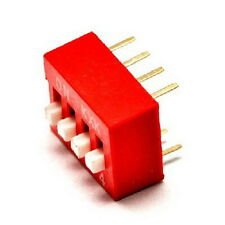 2016 New DIP Red 2.54mm Pitch 8 Pins 4 Positions Ways Slide Type Switch 1Pcs HOT