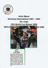 BODO ILLGNER GERMANY INT 1987-1994 ORIGINAL SIGNED MAGAZINE CUTTING