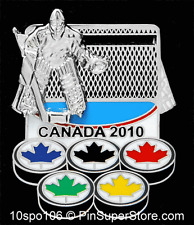 LAPEL PINS 2010 VANCOUVER CANADA HOCKEY GOALIE SLIDER