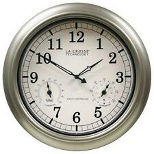 La Crosse Technology WT-3181PL-INT 18 inch Atomic Outdoor Clock with New