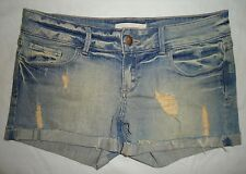 FOREVER 21 DENIM Women New 28 Shorts Cuffed Distressed Stagecoach Daisy Dukes
