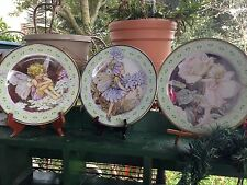 3 Flower Fairies Tin Plates Cicely Mary Barker 2001 Elite Gift Boxes England