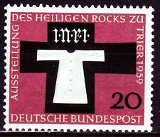 Germany Bund BRD 1959 ** Mi.313 Austellung Exhibition Trier | Kreuz Cross | Rock