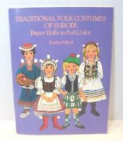 Vintage Traditional Folk Costumes of Europe - Paper Dolls in Full Color 1983