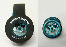 "Pro Track ""Magnum Blue"" 1 3/16"" x .500 wd Matching Rr & Ft Drag 1/24 Drag Tire"