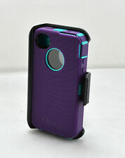 OtterBox Defender Rugged Case w/Holster Belt Clip for iPhone 4 4S (Purple/Teal)