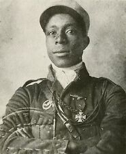 "French Foreign Legion African American Pilot Eugene Bullard 6x5"" Reprint Photo"