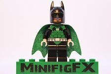 Lego GREEN LANTERN BATMAN Custom Printed Minifig DC Superhero Darkest Knight
