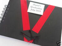 PERSONALISED GRADUATION GUEST BOOK ALBUM ANY COLOURS