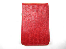 Sunfish Leather Golf Scorecard & Yardage Book Holder / Cover - Red Croc