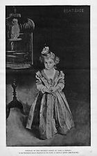 PORTRAIT OF MISS BEATRICE GOELET BY JOHN S. SARGENT ENGRAVING BIRD CAGE PARROT