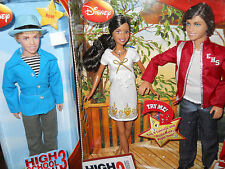 HIGH SCHOOL MUSICAL 3 DOLLS***RARE RYAN SENIOR YEAR** & TREE HOUSE MOMENT 2 PK!