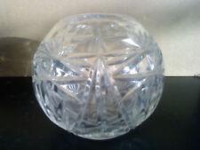 Stunning cut Crystal Rose bowl/ tealight holder/ vase. 10cm high x 11cm across