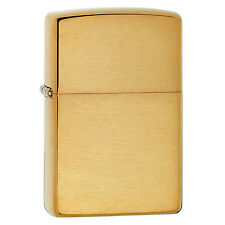 Zippo Brushed Brass Lighter W/O Solid Brass Engraved 204B