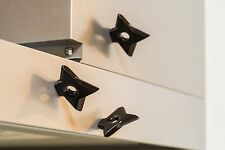 Ninja Star (Shuriken) Fridge Magnet from Japan! (3 Pack, Black color)