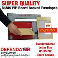 125 A5 C5 PIP Size STRONG DEFENDA BOARD BACK ENVELOPES HARD Card BACKED MAILERS