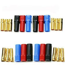 12X XT150 6mm Large Current Motor Bullet Connector,Male/Female w/Sleeve Trex 600