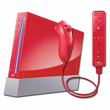 Red Nintendo Wii Console+ 9 Games & Activities + FREE UK DELIVERY