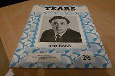 SHEET MUSIC - KEN DODD - TEARS  - 1965  ORIGINAL.