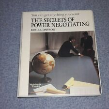 The Secrets of Power Negotiating cassette Box Set ROGER DAWSON You can get anyth