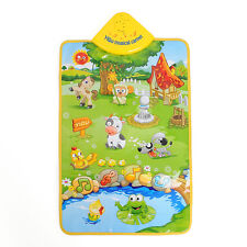 Music Sound Singing Farm Animal Kids Baby Children Play Playing Mat Carpet Gym